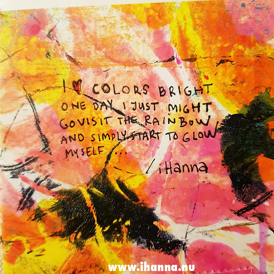 Fill a tiny journal (colorful prompt presented) by iHanna #fillatinyjournal