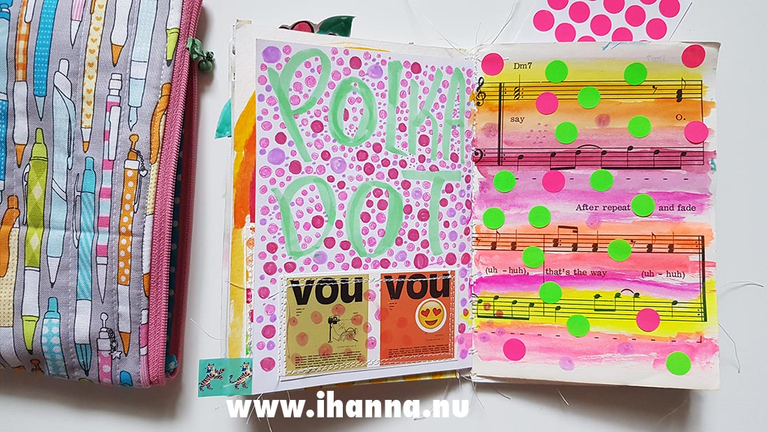 Fill a tiny journal (polka dot prompt presented) by iHanna #fillatinyjournal
