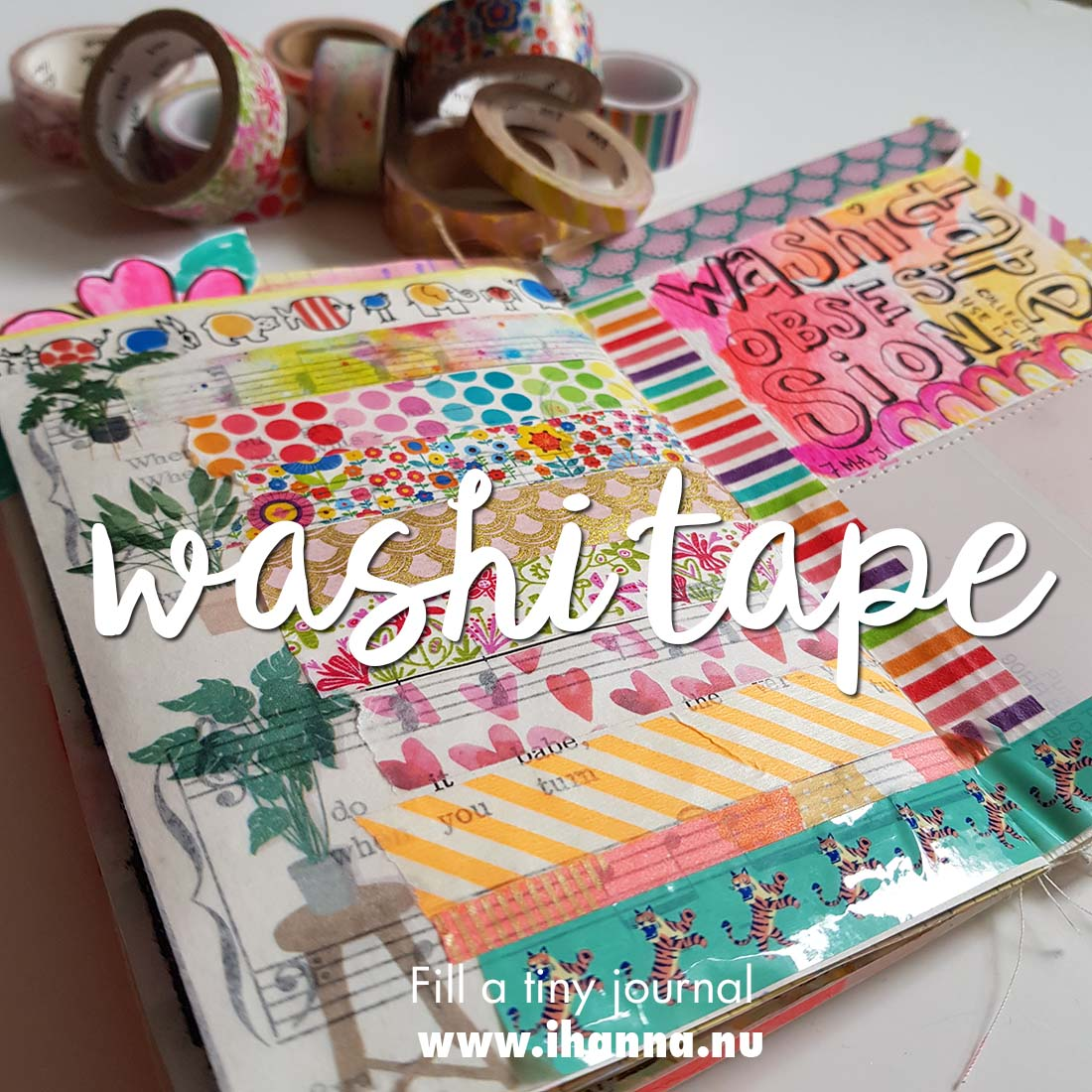 Fill a tiny journal: Washi Tape Love
