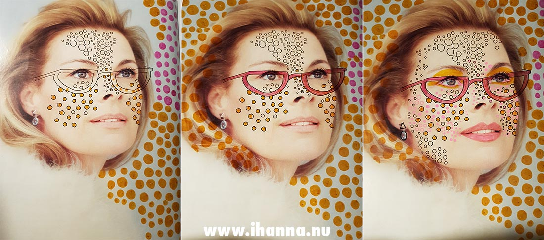 Magazine lady with doodles by iHanna