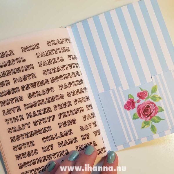 Back pocket of doodle book with blank pages | journal 24 in iHanna's Journal release 3 2021