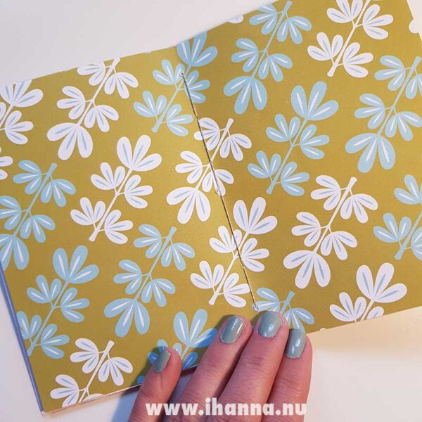 Middle spread with patterned paper of doodle book with blank pages | journal 24 in iHanna's Journal release 3 2021