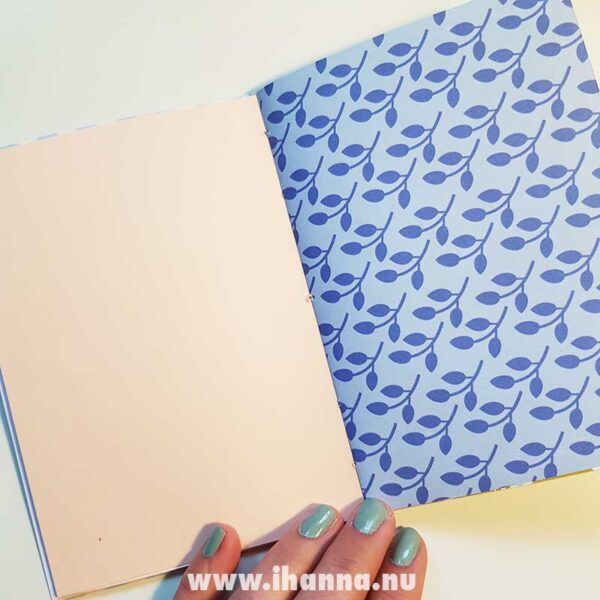 Patterned paper and blank pages in this doodle book with blank pages | journal 24 in iHanna's Journal release 3 2021
