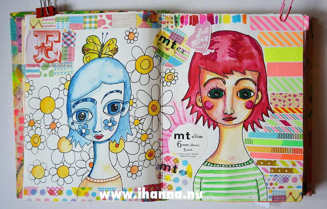 Doodles in my art journal by Hanna Andersson aka iHanna #artjournal