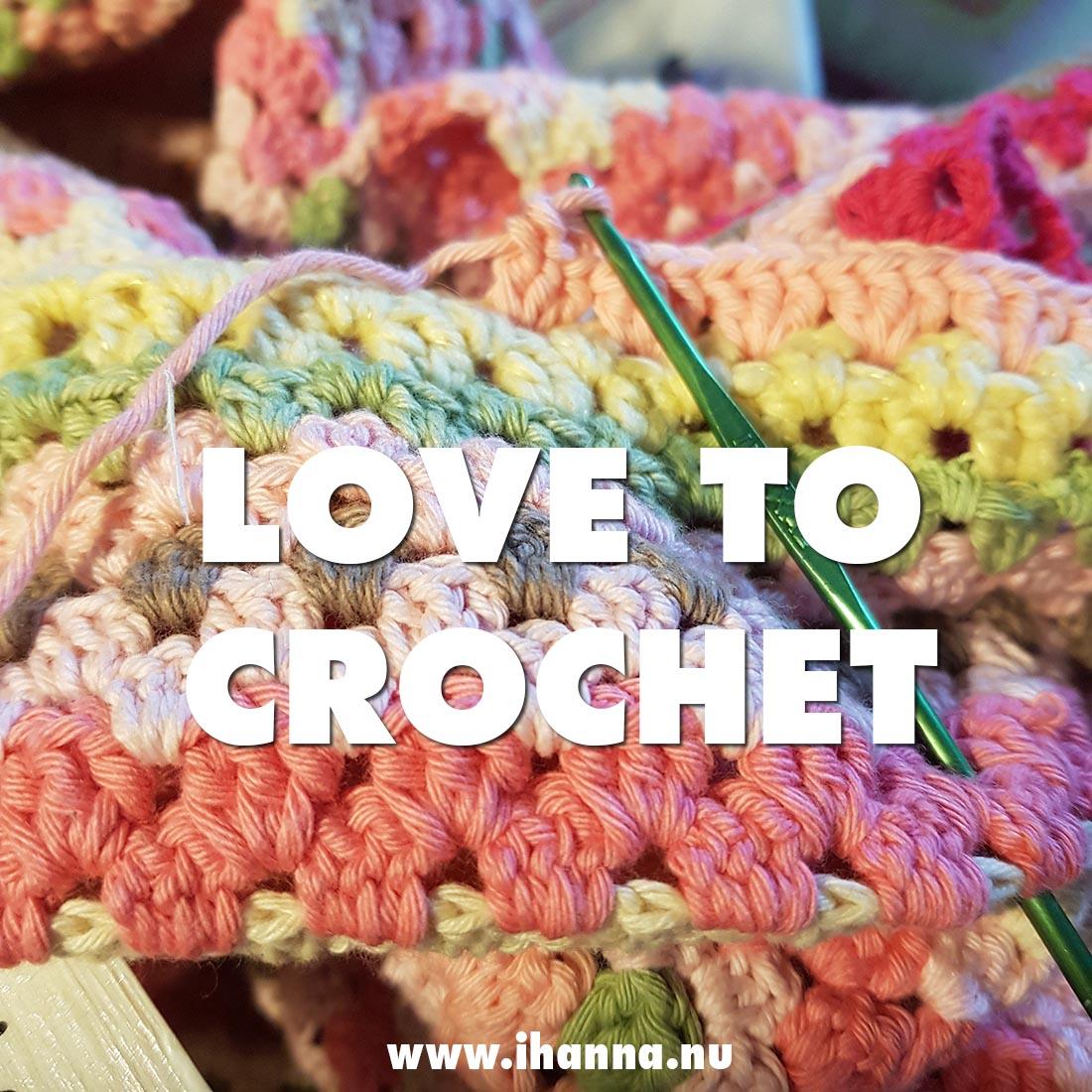 WIP Crochet Granny Blanket