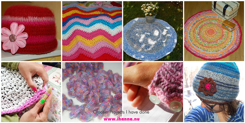 Some of the MANY crochet projects I have done through the blogging years