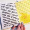 Page in yellow doodle book with blank pages | journal 26 in iHanna's Journal release 3 2021