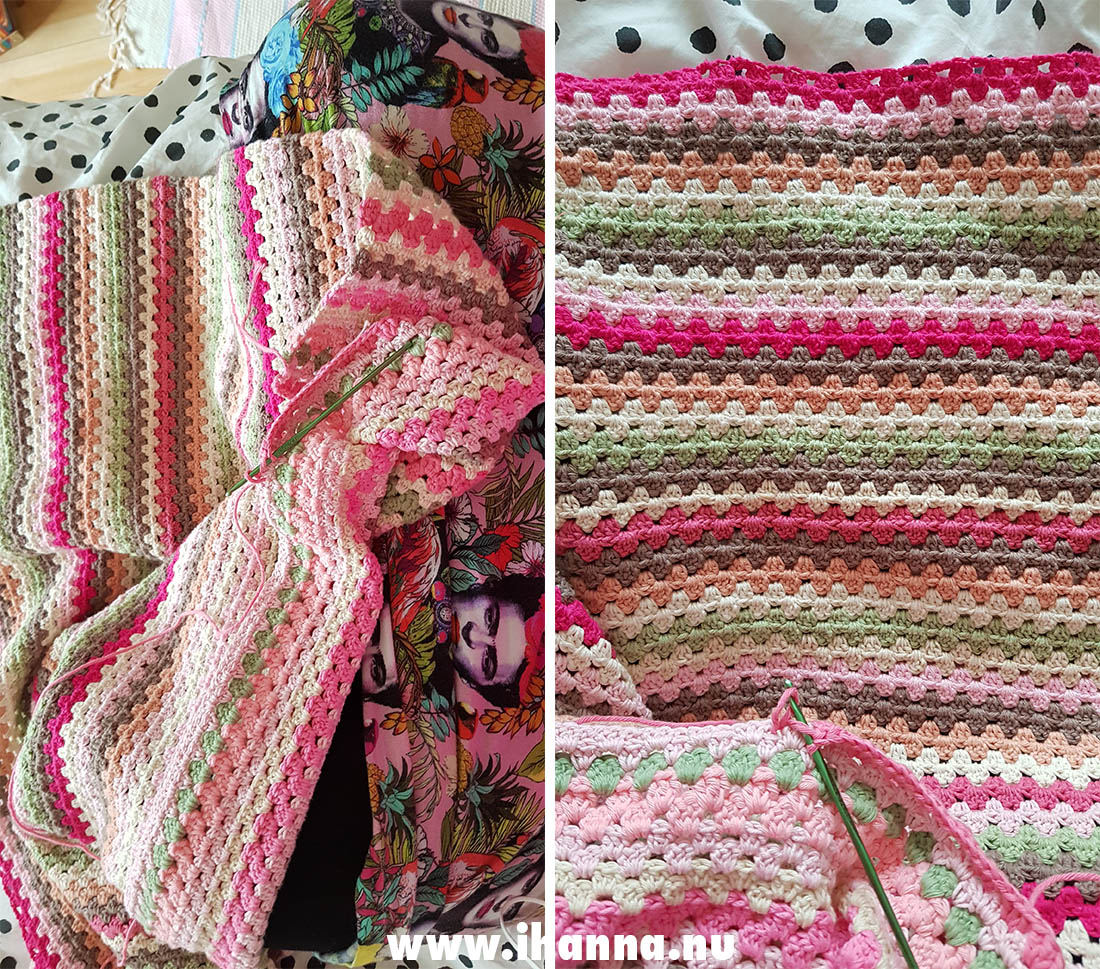 WIP Granny Square striped blanket by iHanna
