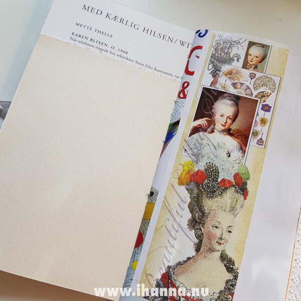 Spread in Junk journal no 20 | iHanna's journal release 3 2021