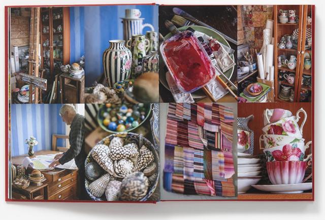 Book spread in Kaffe Fassett in the Studio reviewed by Studio iHanna, Sweden