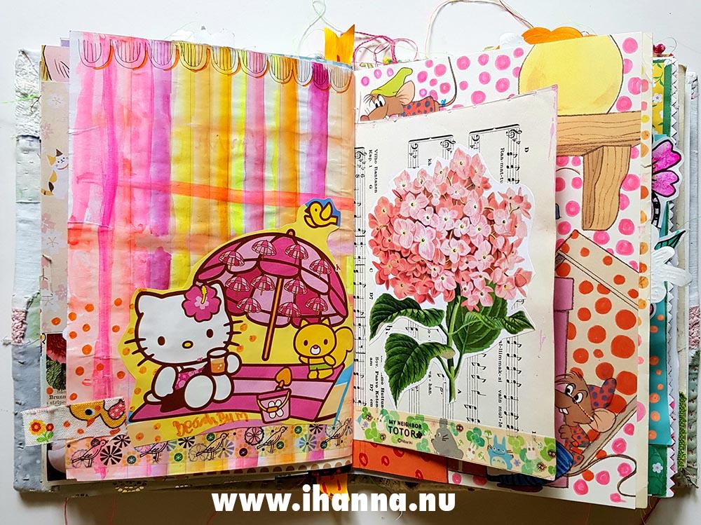 Hello Kitty in my Art Journal by iHanna
