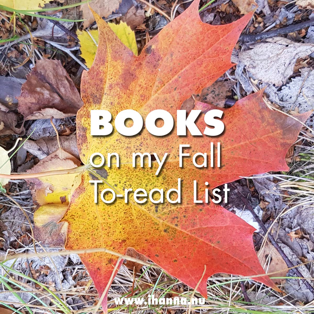 Top Ten Books to read this Fall #TBR