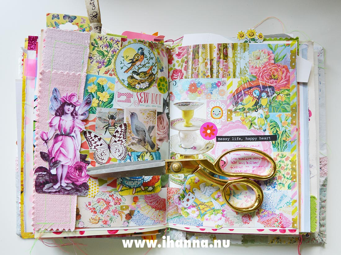 All-over-Collage – process in Summer Junk Journal