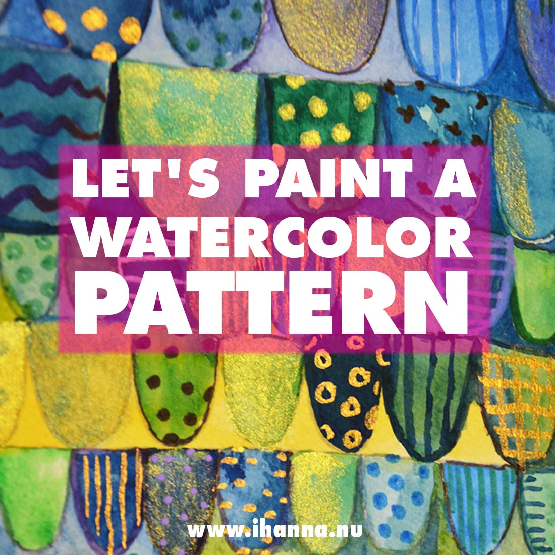 Calming Scalloped Pattern | Paint along with me!