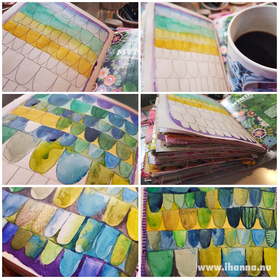 Watercolor process video for painting this fun pattern with ihanna