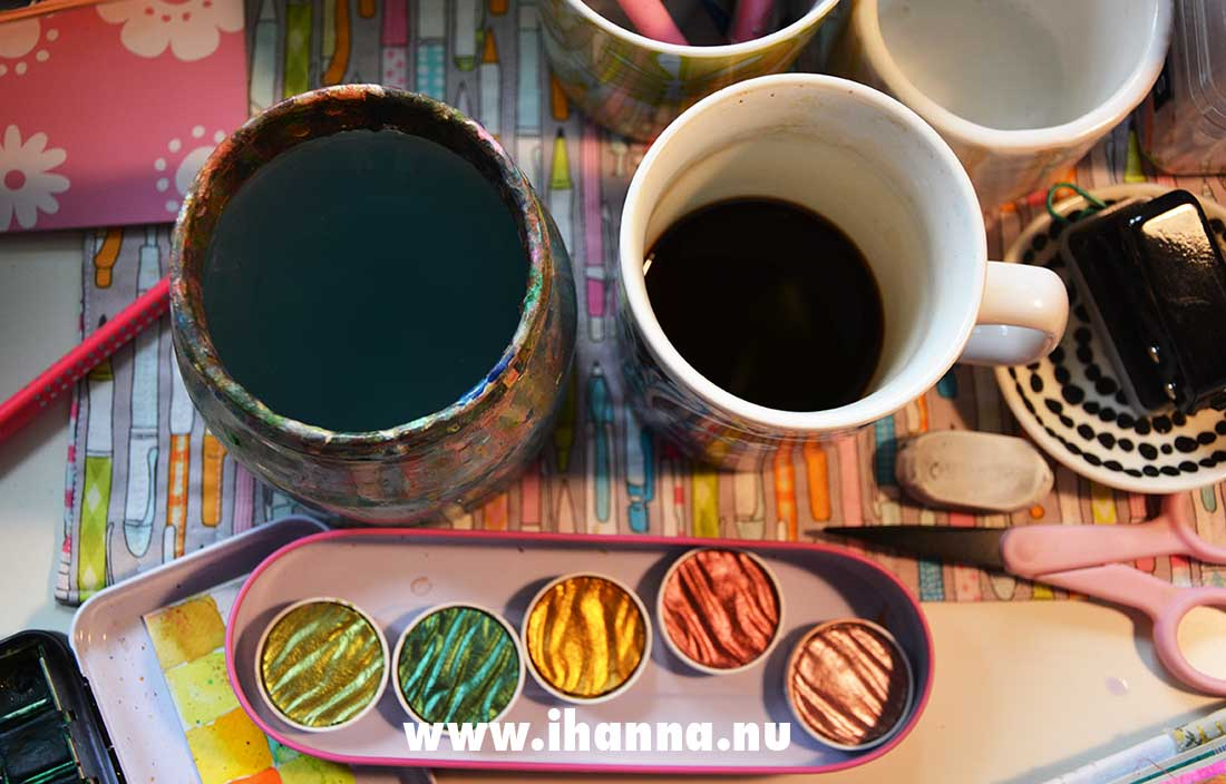 Let's paint a Watercolor pattern in our Art Journals with iHanna