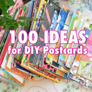 Video of 100 Ideas for DIY Postcard creating by iHanna